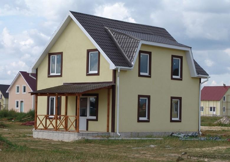 Цветовая гамма фасадов домов фото